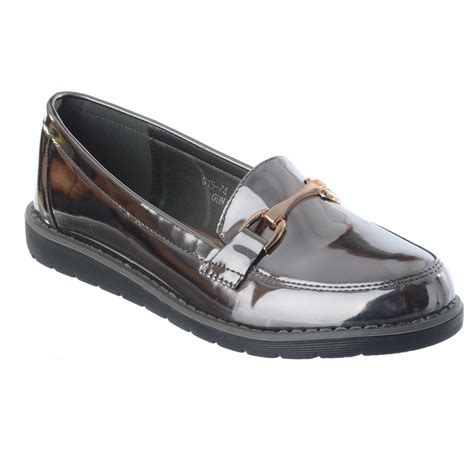 loafer wedge shoes womens dolly casual flat slip on loafer low