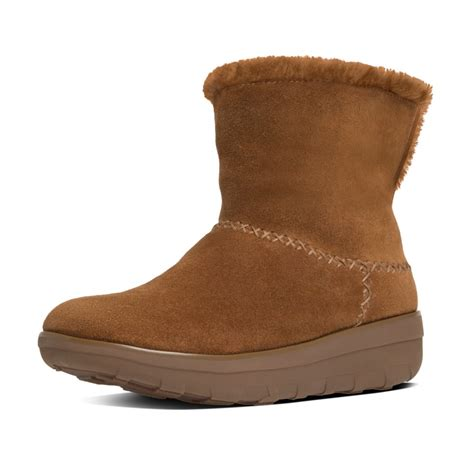 fitflop mukluk shorty ii chestnut suede pull on boots