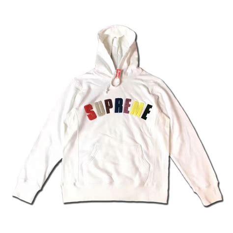 supreme clothing hoodie supreme arc logo hoodie white