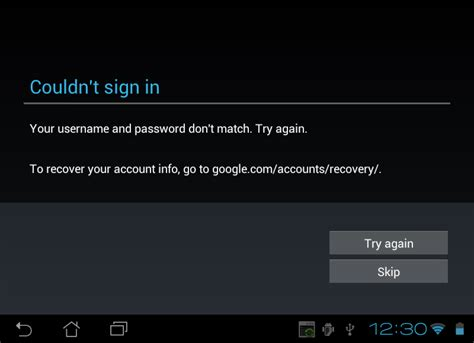 Cant Find After Mba Enter It by Can T Login With Gmail App Play Store On Tablet Username