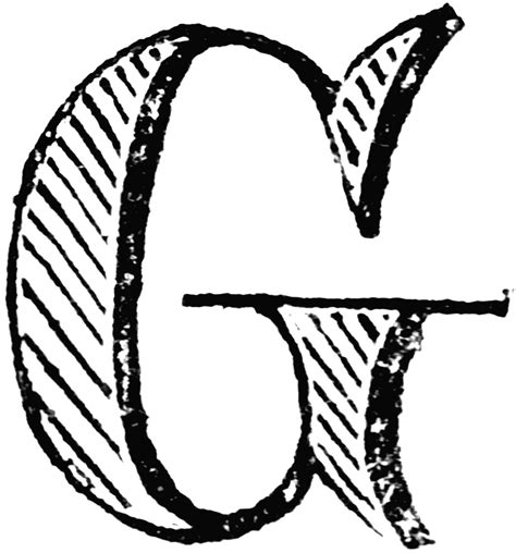 G Drawing Design by Decorative Letter G Clipart Etc
