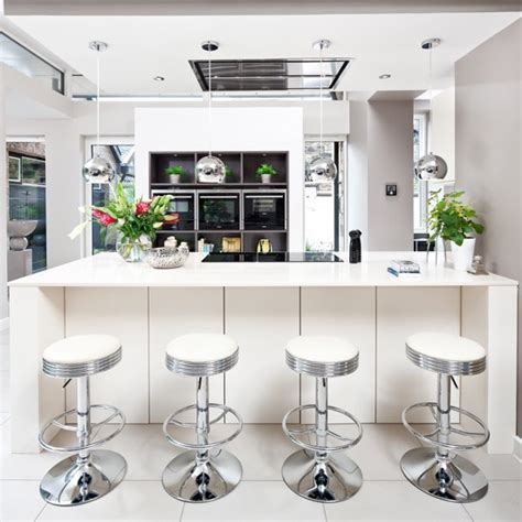 bar stools for white kitchen white kitchen with silver bar stools decorating with