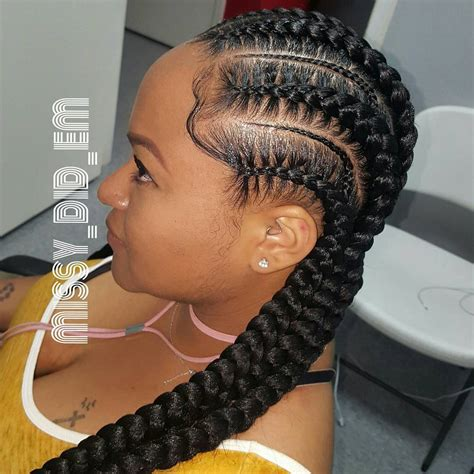 show me pictures of extensions french braids black people here 225 likes 22 comments braids by missy missy did em
