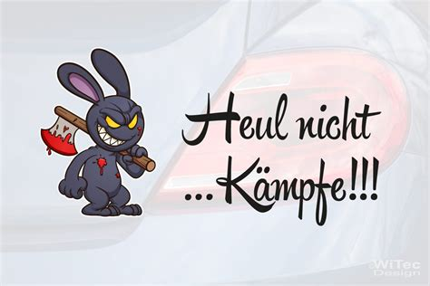 Sticker Schriftzug by Autoaufkleber Hase Bunny Schriftzug Heul Nicht Aufkleber
