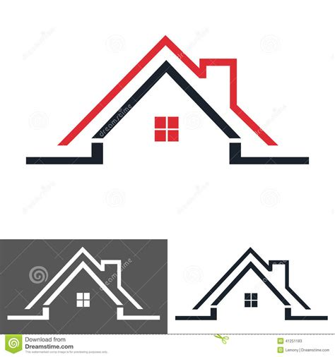 home design logo free home house icon logo stock vector image 41251183