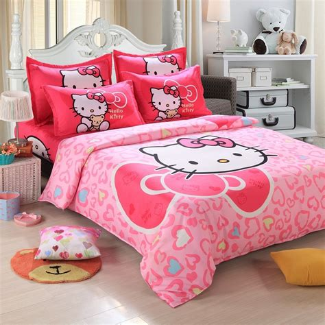 Childrens Comforter Sets Size by Promotion 4pcs Hello Comforter Print Bedding Sets Size