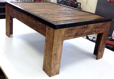 Reclaimed Wood And Metal Coffee Table Rustic Reclaimed Wood And Metal Coffee Table By