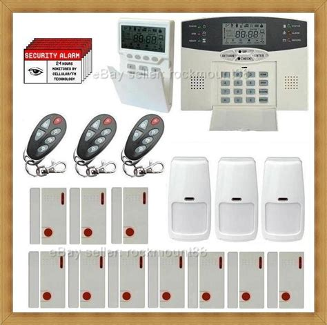 self monitoring wireless lcd home security system burglar