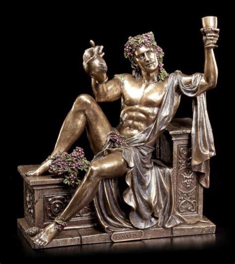 dionysus greek god statue dionysos god of wine 24 cm bronzed figurine veronese
