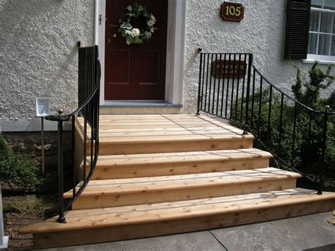 dscn  finished front porch steps front door