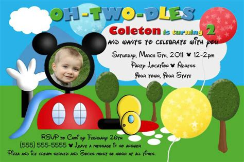 mickey mouse clubhouse invitation template mickey mouse clubhouse invite template