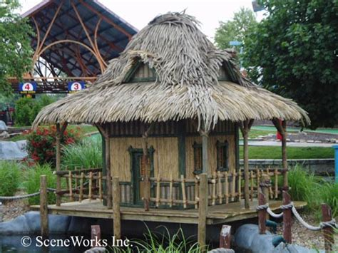 Tiki Huts In Water Dock Accessories Ladders Tiki Huts Fish Cleaning And