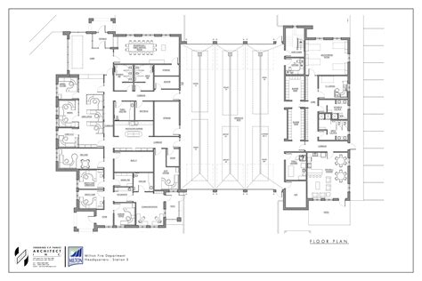 fire station floor plans stations milton fire department