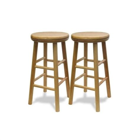 Counter Height Swivel Bar Stools 24 Quot Counter Swivel Bar Stools In Walnut Set Of 2 94624
