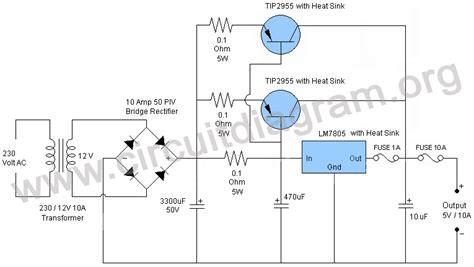 5v 12v power supply circuit diagram 5v 10a power supply circuit diagram