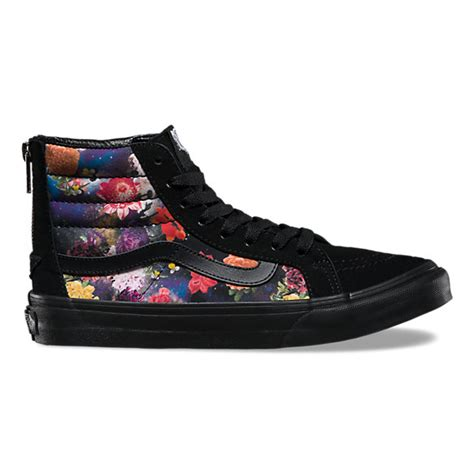 galaxy floral sk8 hi slim zip shop womens shoes at vans