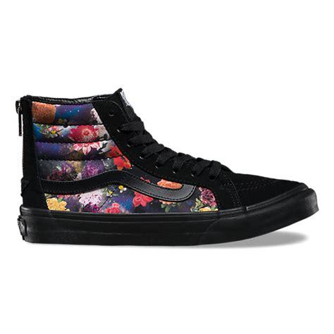 galaxy floral sk8 hi slim zip vans ca store