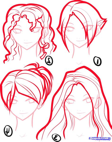 anime hair how to draw anime hair step by step anime hair anime