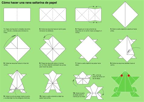 Easy Origami Frog - origami how to make an origami jumping frog from an index