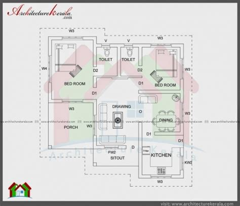 kerala house design below 1000 square feet gorgeous 1000 sqft single storied house plan and elevation