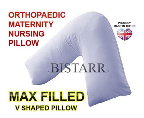 V Shaped Maternity Pillow by Max Fill V Shaped Orthopaedic Maternity Nursing Pillow Ebay