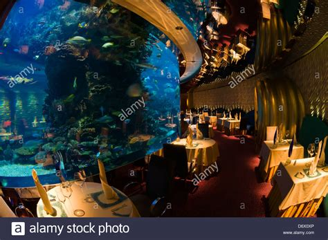 theme hotel dubai the underwater themed al mahara restaurant in the burj al