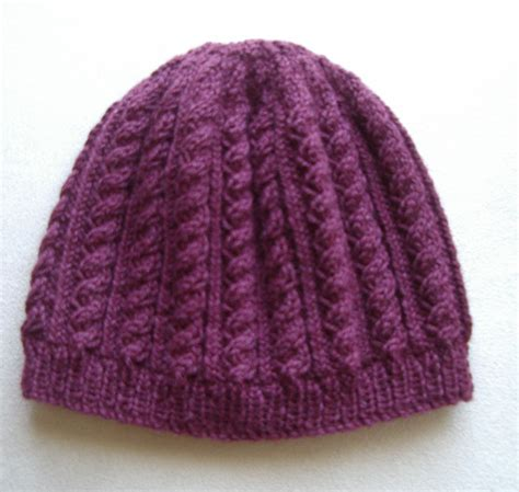 knitted beanie pattern sally 8ply cable