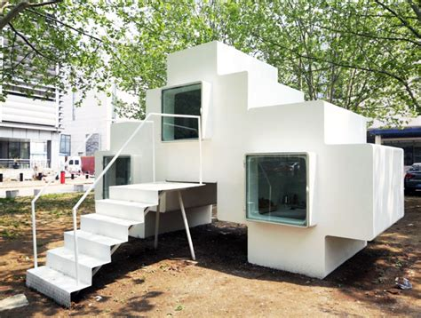 micro home tetris like micro house can be stacked to form expanded housing suites micro house by studio liu