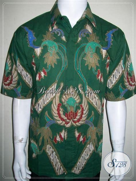 Gamis Batik Tulis Hijau model baju batik modern pria untuk kerja warna hijau