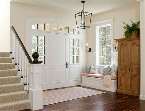 bench in front of window 25 best ideas about open entryway on pinterest house