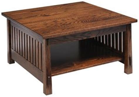 country mission square coffee table oak mission style