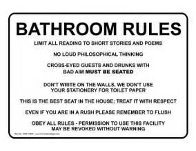 Wedding Bathroom Basket Ideas simple bathroom etiquette signs on bathroom etiquette in