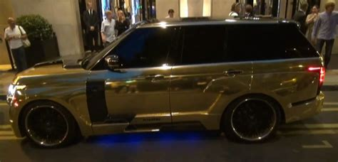 gold chrome range rover gold range rover with hamann mystere kit spotted