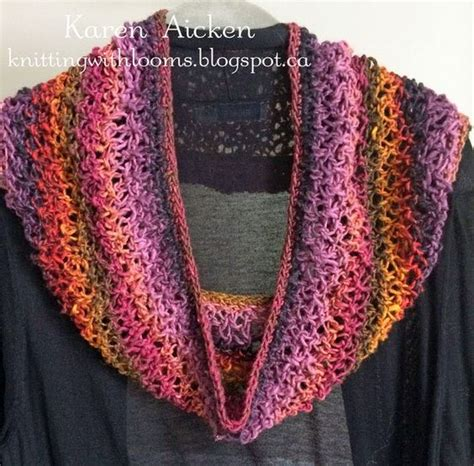 cowl loom knitting pattern knitting with looms lacy cowl using theresa higby s