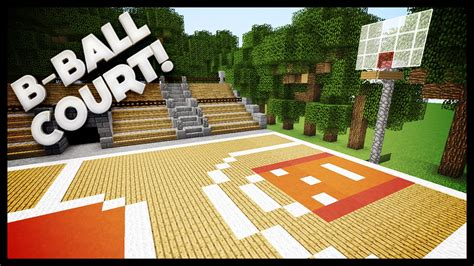 minecraft how to build a basketball court