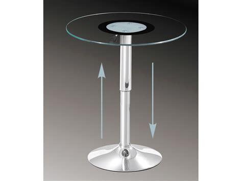 glas tisch glastisch rund h 246 henverstellbar beistelltisch 60 cm