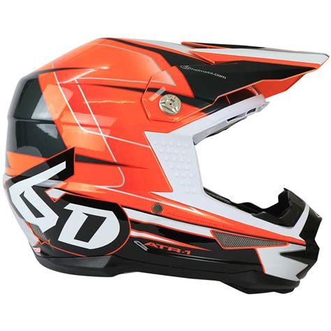 new motocross helmets 6d helmets new mx 2017 atr 1 sonic orange charcoal dirt