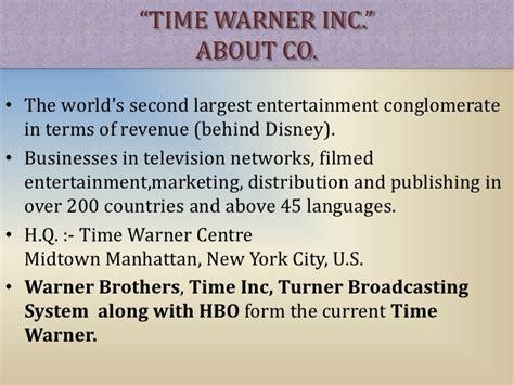 Warner Bros Mba Internship Insights by Time Warner Global Market Analysis