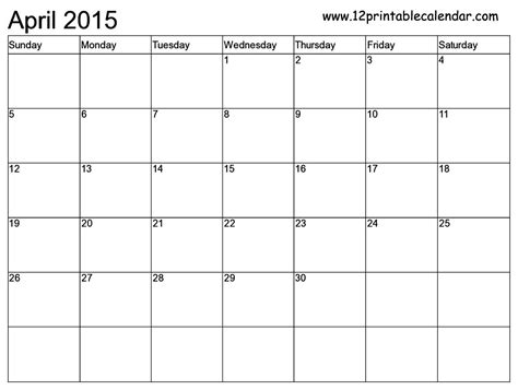 printable write in monthly calendar 2015 autos post