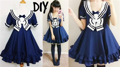 dress pattern making youtube diy easy navy sailor dress short sleeves step by step