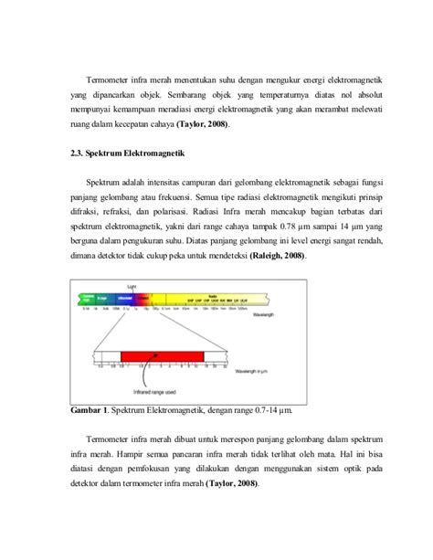Termometer Panjang pengukuran suhu menggunakan termometer inframerah