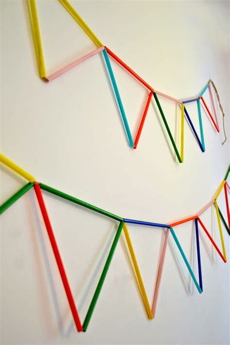 Paper Craft Straws - make your own straw diy paper buntings and