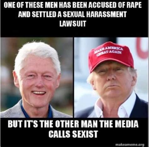 Bill Clinton Memes - clinton draws comparisons between trump and weinstein