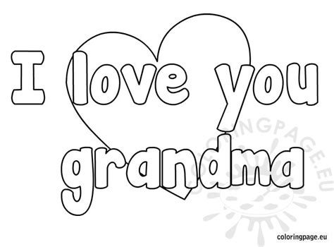 coloring pages i love grandma i love you grandma coloring page