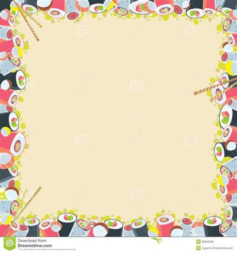 cadre japonais de nourriture photo stock image 38622280