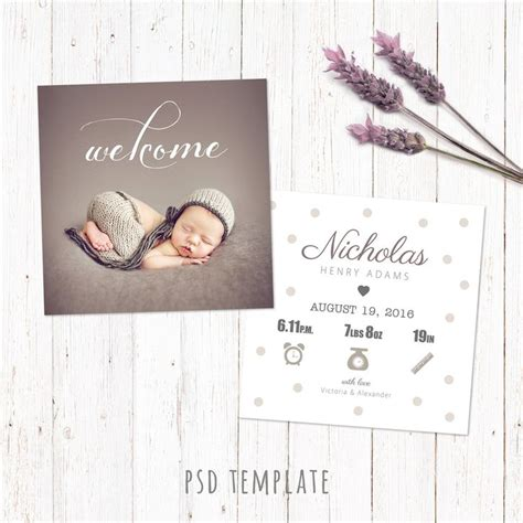 5x5 Inch Card Template by 1000 Ideas About Birth Announcement Template On