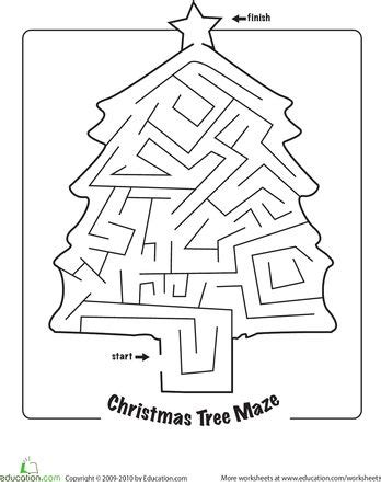printable christmas tree activities mazes printable christmas tree activities merry