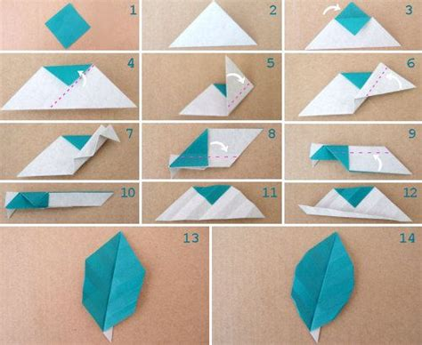 Simple Origami Leaf - origami leaf so cool http www bloomize origami leaf