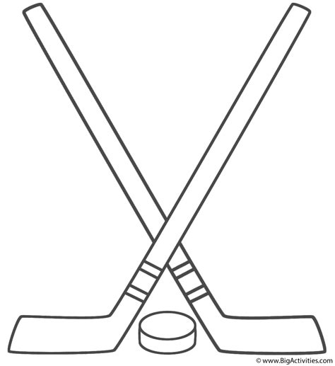 coloring pages of a hockey stick hockey sticks with puck coloring page father s day