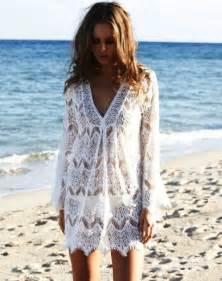 Cute white lace beach summer dresses